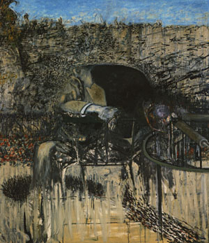 Figure in a landscape, Francis Bacon